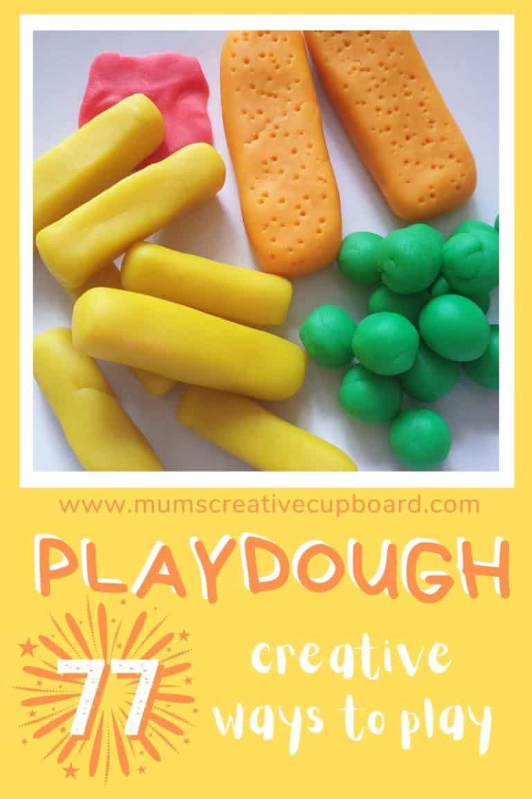 imaginative play playdough food