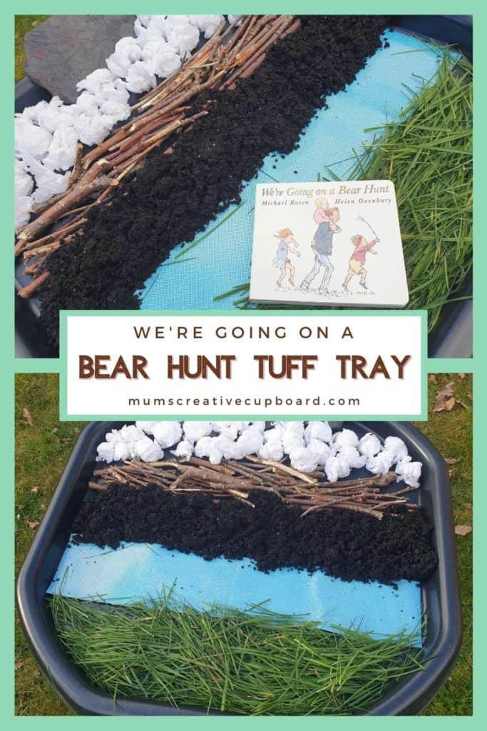 tuff tray sensory play bear hunt