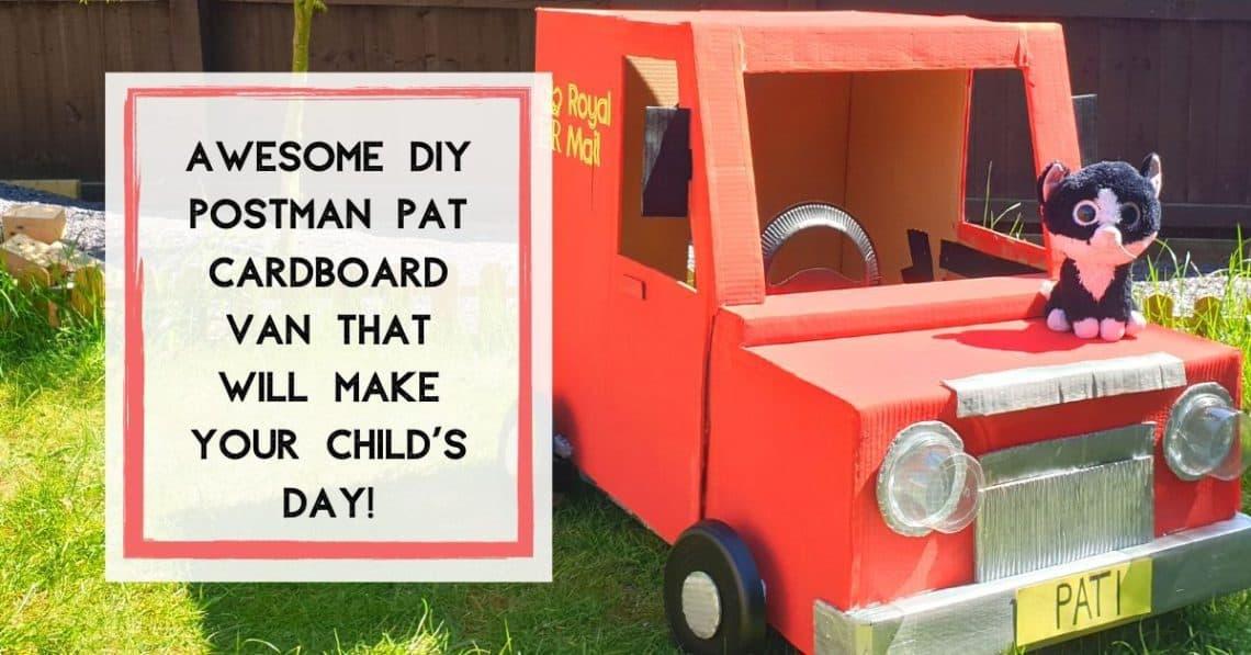 Cardboard Box Crafts Postman Pat Van