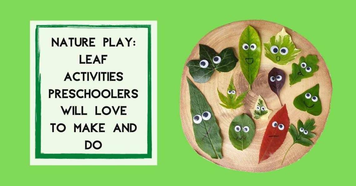leaf activities preschool learning