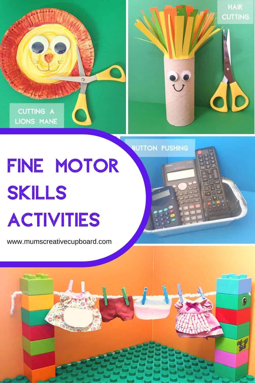 fine motor skills activities for preschoolers and toddlers