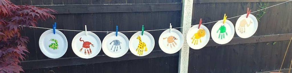 Dear Zoo animal washing line
