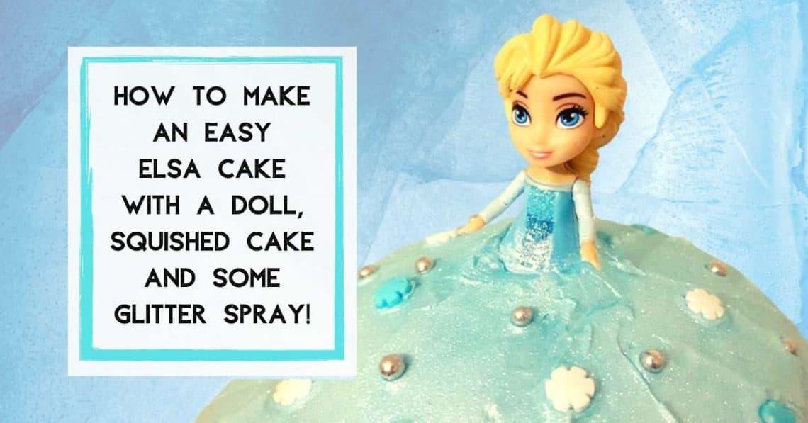 Easy Elsa Cake DIY Princess Doll Cake
