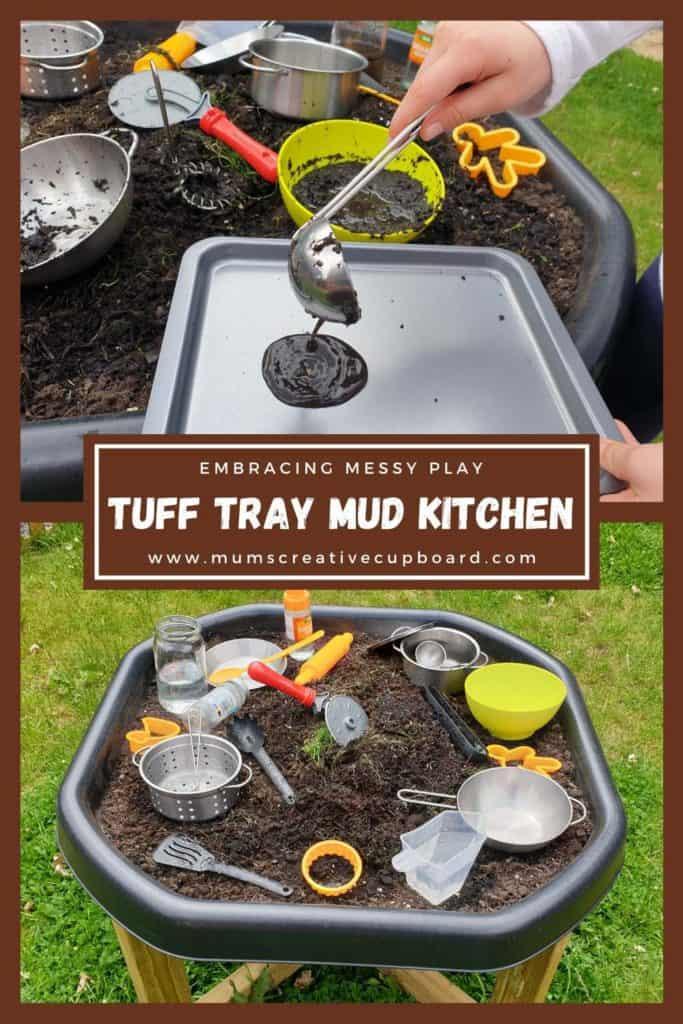 tuff tray muddy play