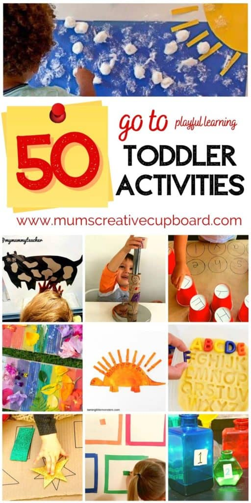 Toddler Learning Activities for 2 year olds and 3 year olds