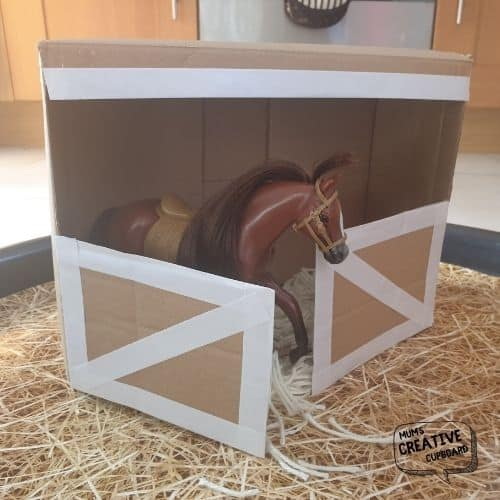 Cardboard Horse Stable