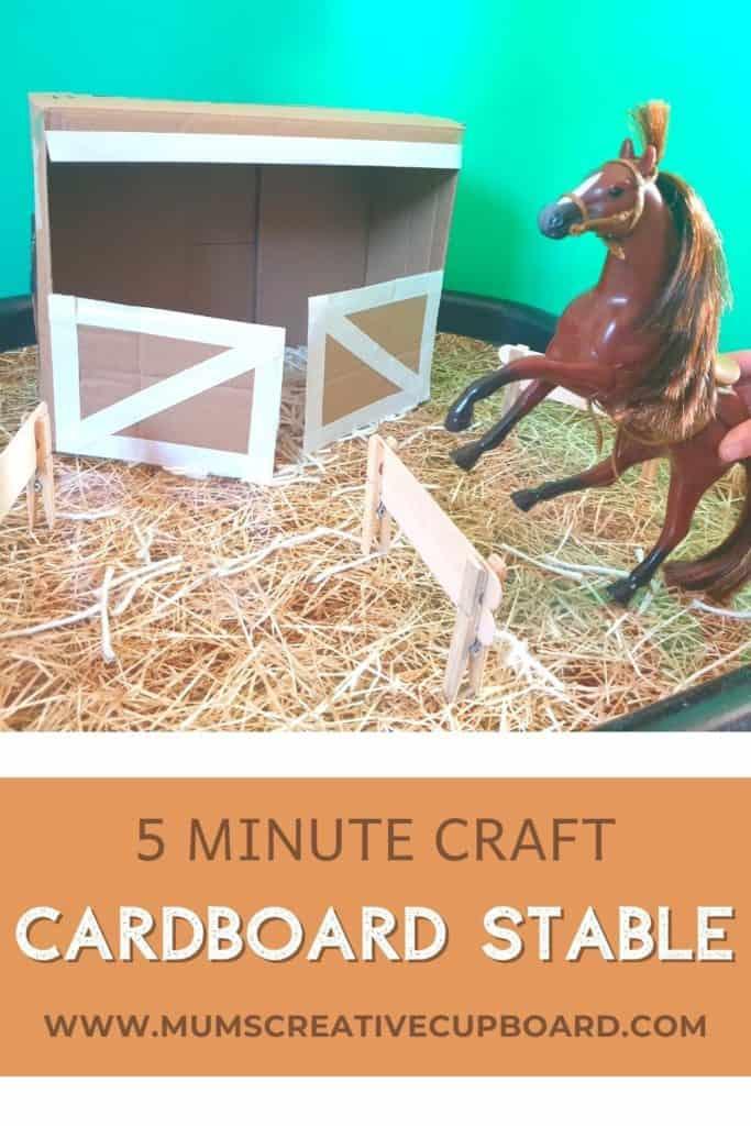 Cardboard Box Horse Stable