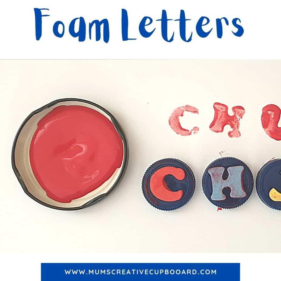 preschool letter painting