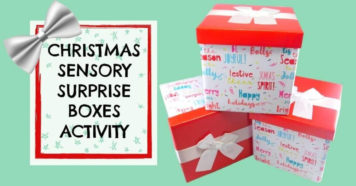 Christmas Sensory bins toddlers