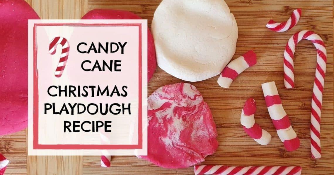 Candy Cane Christmas Scented Playdough Recipe Homemade