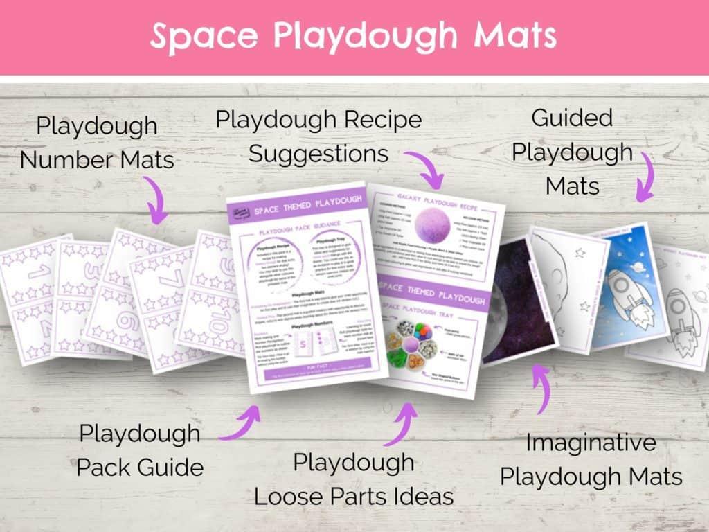 Copy of Space Playdough Mats