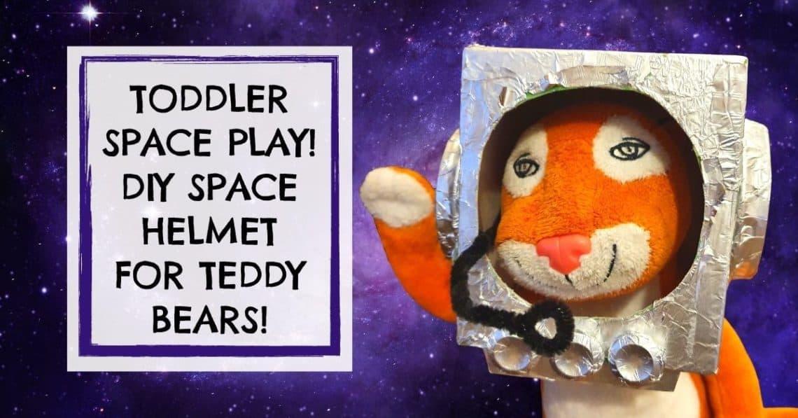 space helmet craft for teddy bears