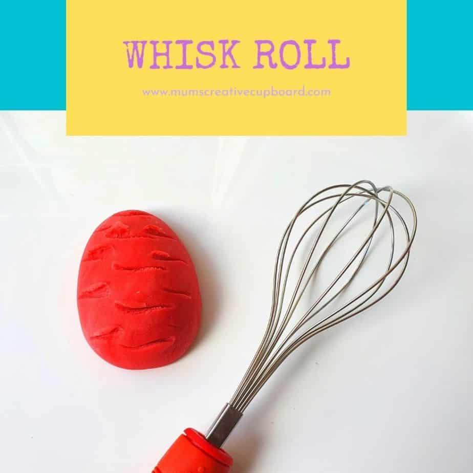 playdough whisk activity for easter