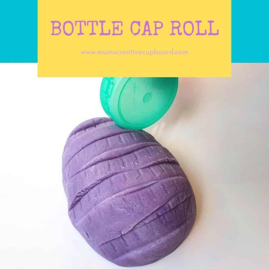 bottle top playdough activity