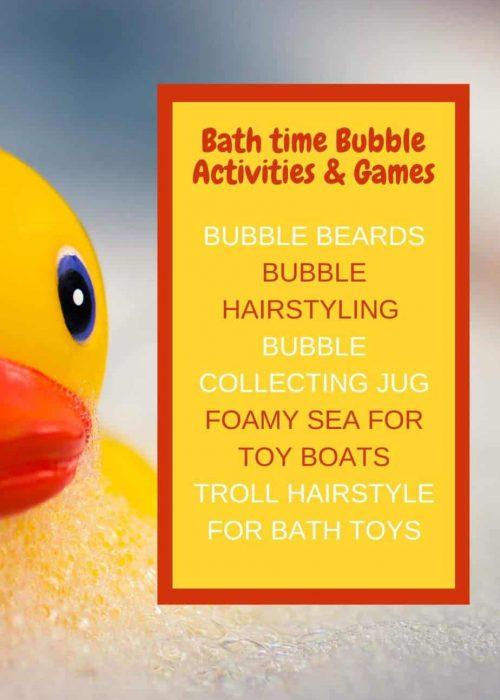 Bath time Bubble Activities & Games