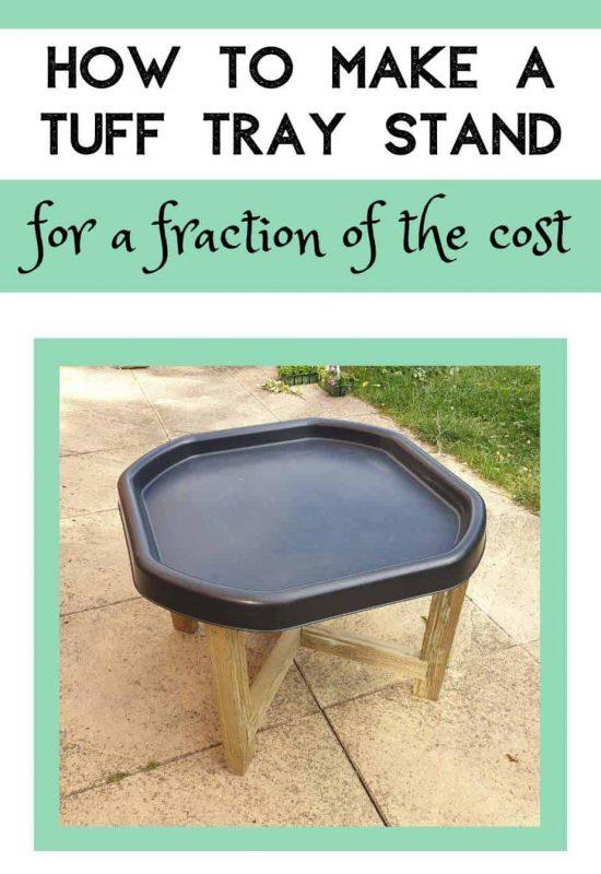 Tuff Tray Stand DIY ideas