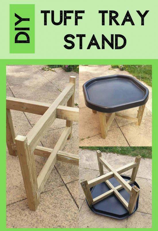 Tuff tray Activities Outdoor Play Wooden Tuff Tray Stand DIY ideas