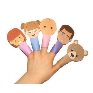 printable finger puppets bear hunt