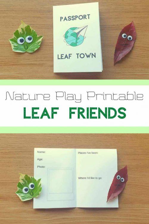 leaf activities preschool free printable